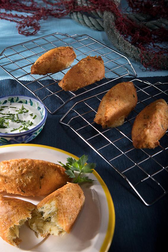 Bolinhos de bacalhau fritos
